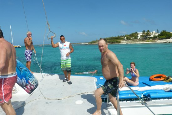Noord, Aruba : Time for the Rope Swing