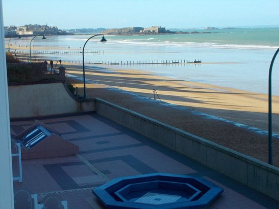 Grand Hotel des Thermes -Les thermes marins de Saint-Malo: Vista dalla sala riposo