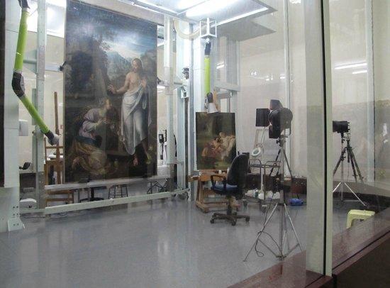 Pinacoteca di Brera: Sector de restauracion
