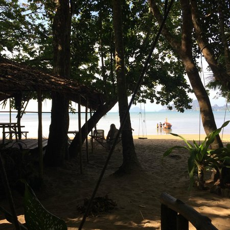Dawn of Happiness : View from our beach bungalow