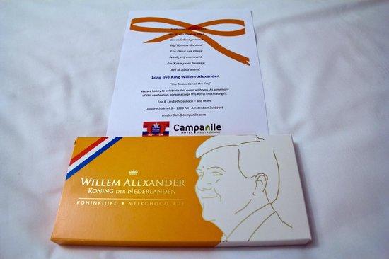 Campanile Amsterdam : Комплимент от отеля.