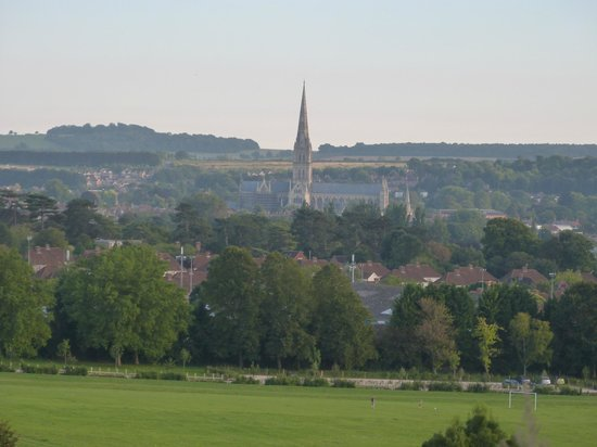 Avonlea House: View of the Cathedral from Old Sarum