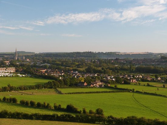 Avonlea House: View from Old Sarum 5 minutes away
