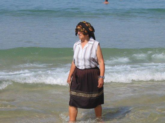 Praia da Nazare: Рыбачка