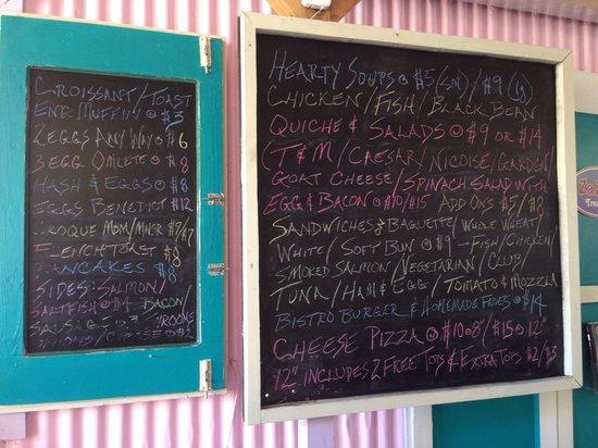 Valley Bistro: Breakfast & lunch menu