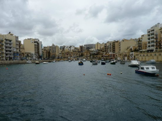 Standing on a pier looking back towards Spinola Bay.