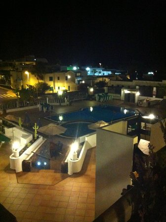 Club Oceano: View from the balcony at night