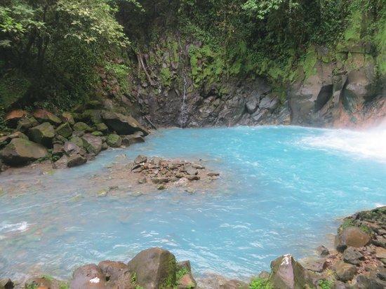 Rio Celeste: Celestial Blue pool below the waterfall