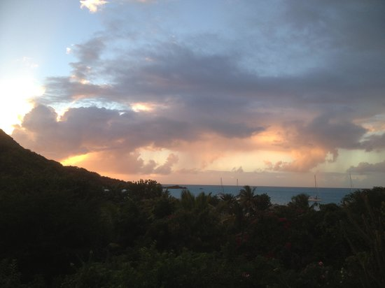 Hermitage Bay : Sunset from our room.