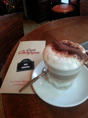 Cafe Chappe: Morning capuccino