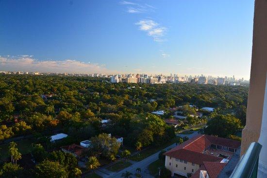 The Biltmore Hotel Miami Coral Gables: terrasse de la chambre vue a 180 degré