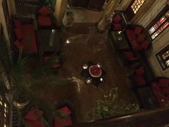 La Maison Arabe: One of the courtyards