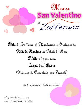 Zafferano Trattoria & Pizzeria: Ed ecco a voi il nostro Menù per la Serata di San Valentino !!! Vi aspettiamo numerosi !