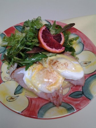Succotashed: Eggs Benedict with Rosemary Toast