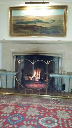 Burnhope Lodge: A lovely welcoming fire