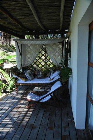 Baia Sonambula Guest House : Bungalow-Terrasse