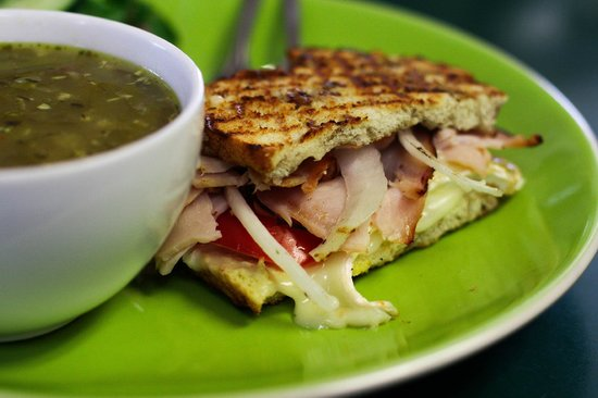 Dish Cafe : Can Can Sandwich and Cup of Soup