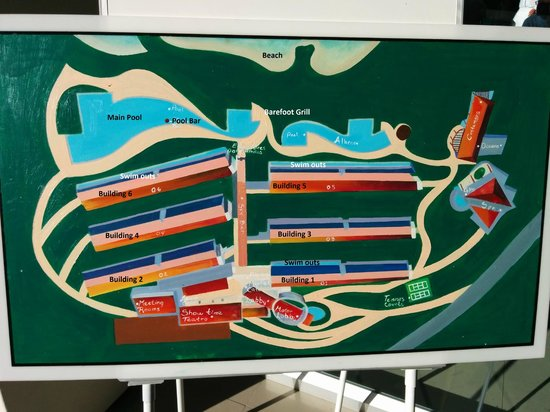 Secrets Huatulco Resort & Spa : Map of resort with labels