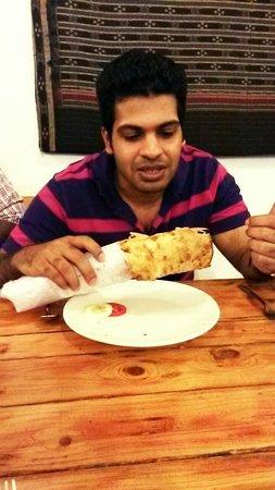 Dal Roti : double kaati roll ajeesh