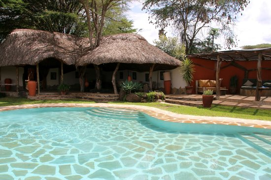 Lewa Safari Camp: Pool/lounge area
