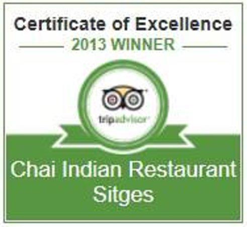 Chai Indian Restaurant Sitges: Tripadvisor 2013