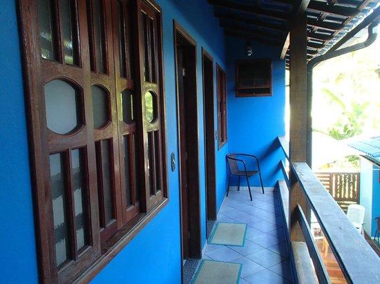 Pousada Telhado Azul : Corredor de acceso a la habitación
