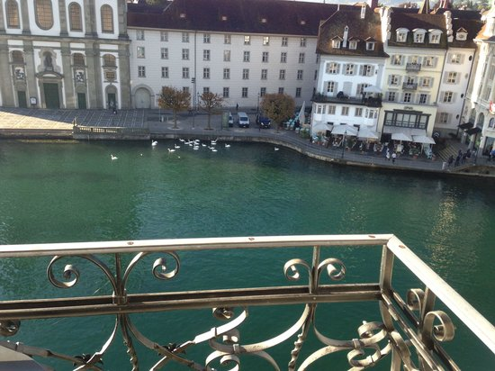 Hotel des Balances: View from d room balcony