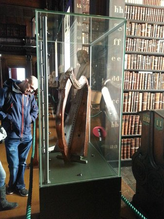 The Book of Kells and the Old Library Exhibition: Brian Boru's Harp