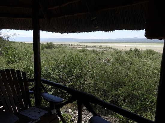 Manyara Wildlife Safari Camp: View from our balcony