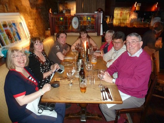 Happy Family! Diners enjoying the Mark Addy experience