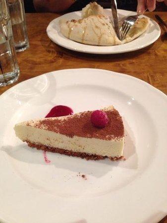 Olive Restaurant & Bar: White chocolate cheesecake