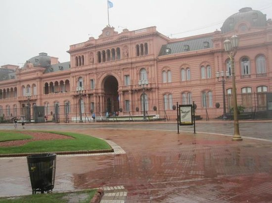 BuenosTours: On the east side of Plaza de Mayo is the Casa Rosada, the Pink House of Buenos Aires.