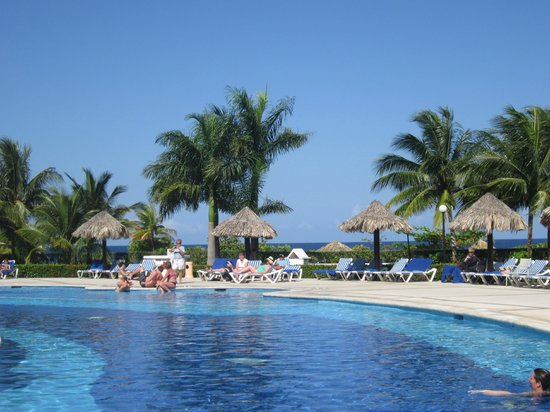 Luxury Bahia Principe Runaway Bay Don Pablo Collection: a view of pool and ocean....Both so blue