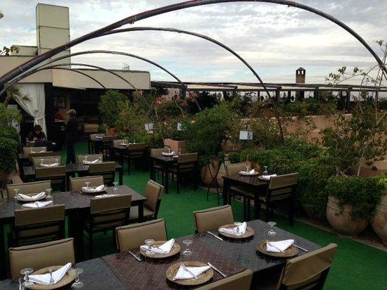 Les Jardins de La Koutoubia : ristorante ultimo piano