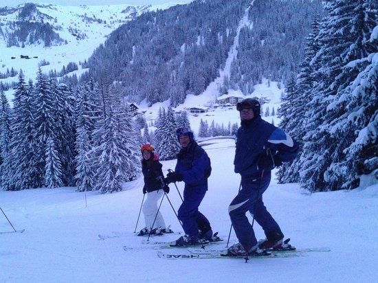 Parkhotel Planac: Llegando esquiando al Hotel