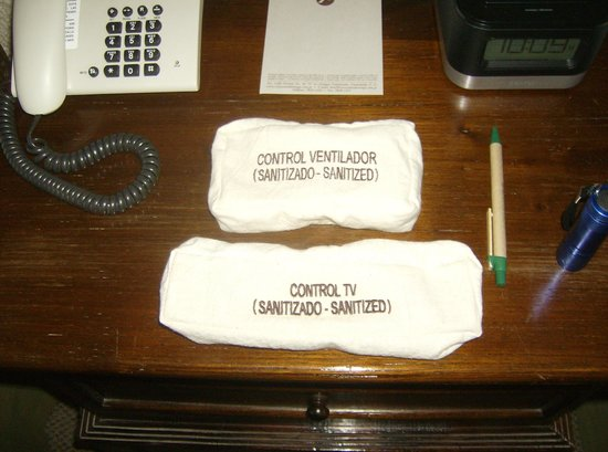 Hotel Museo Spa Casa Santo Domingo: remotes have been sanitized