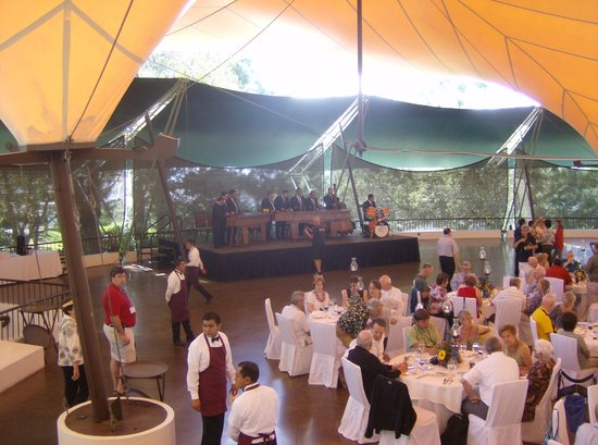 Casa Santo Domingo: dining area at hilltop site. the food was amazing