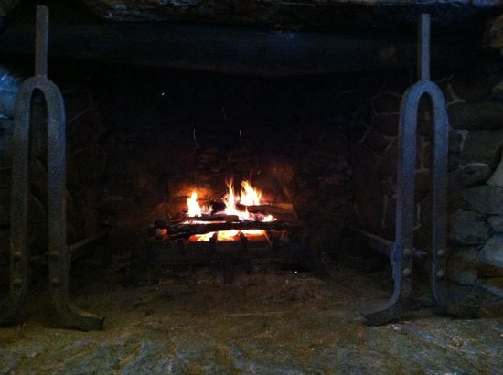 The Omni Grove Park Inn : One of two grand fireplaces!