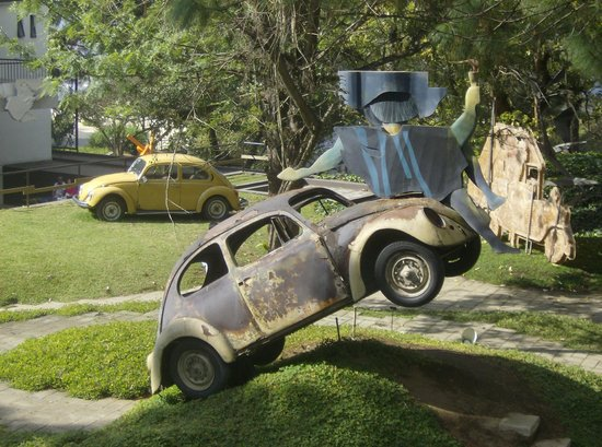 Casa Santo Domingo: volkswagon art sculptures at the hilltop site