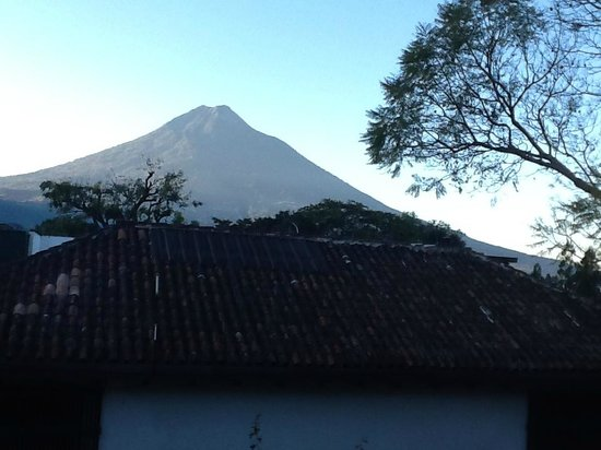 Casa Santo Domingo: Sunrise on the volcano. Taken from my window at the Casa.