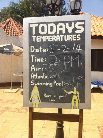 Laico Atlantic Banjul Hotel: Amazing weather!