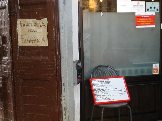 Trattoria della Faggiola: No expensive was spared on signage, yea!