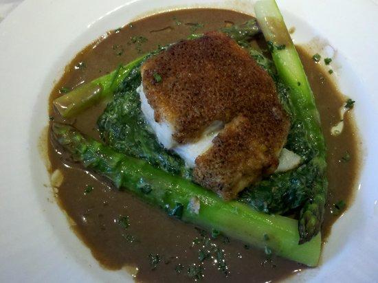 AQUAGRILL: Mushroom Truffle Crusted Cod - delicious!