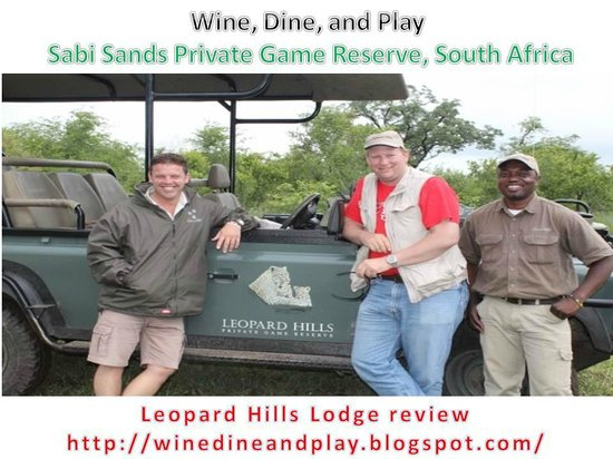 Leopard Hills Private Game Reserve: Safari's