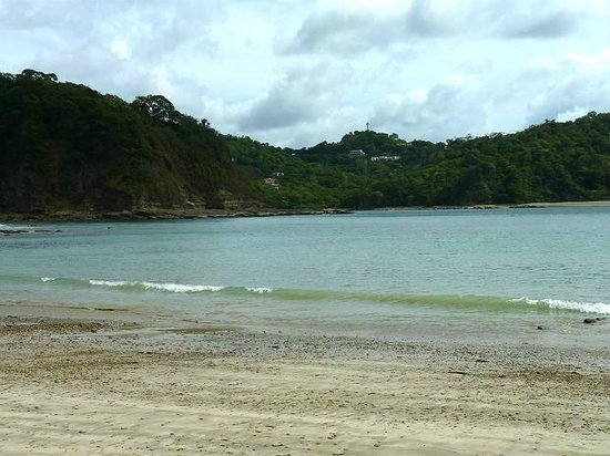view from the far beach back to Casa del Soul.