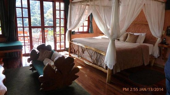 Peace Lodge: BED IN ROOM