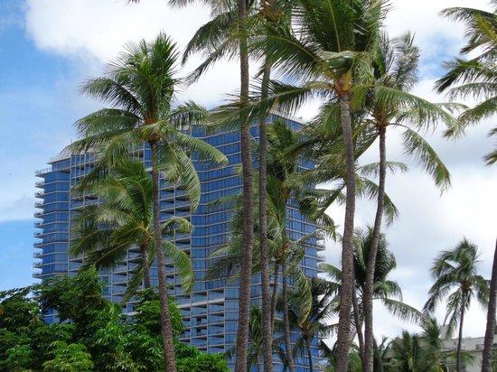 Trump International Hotel Waikiki: The hotel as seen from the beach.