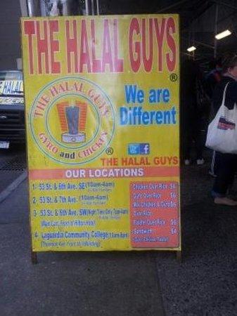 53rd & 6th Halal: pancarte, méfiez vous des imitateurs