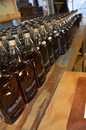 Garrison Brothers Distillery: Bottled bourbon, ready for the final touch