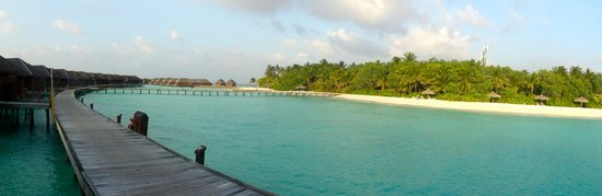 Veligandu Island Resort & Spa: Island  view from Watervilla  171